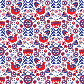 Scandinavian Spring (Red, White and Blue)