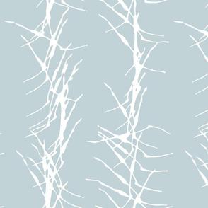 ink stick fence-sky blue white