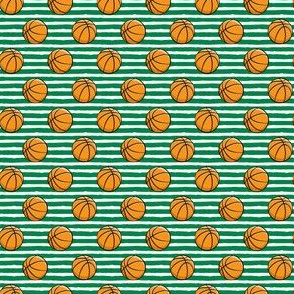 "(1/2"" scale) Basketball - Green Stripes -  Sports C18BS"