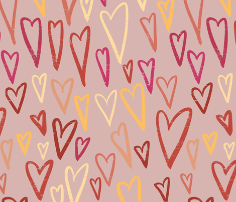 Valentines_Hearts_Simple fabric by copapod on Spoonflower - custom fabric