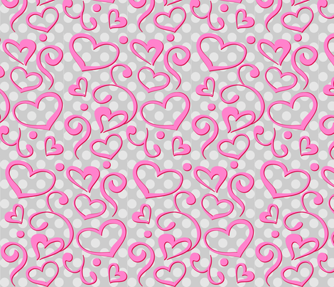 Big Glitter Valentine Print fabric by bigglitter on Spoonflower - custom fabric