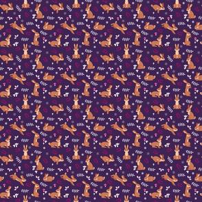 Festive Rabbits: Purple