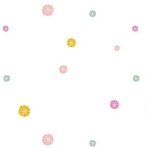 Summer kids yellow pink spots dots baby