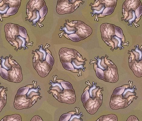 Human Hearts - I Anatomically Correctly Love You - Anatomy fabric by lierre on Spoonflower - custom fabric