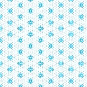 Pure Blue Snowflake Pattern