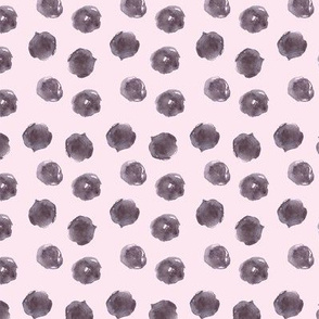 Grey painted dots on blush pink ★ watercolor polka dot pattern for modern nursery, home decor, bedding