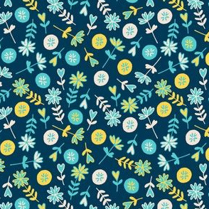 light floral blue pastels