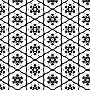 White and Black Snowflake Pattern