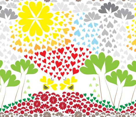 Bee My Valentine Challenge Entry LillliLike fabric by lillilike on Spoonflower - custom fabric