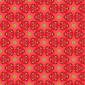 Red and Neon Green Pattern