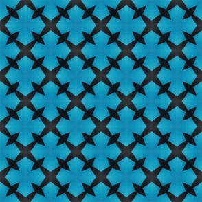Teal and Black Cross Pattern
