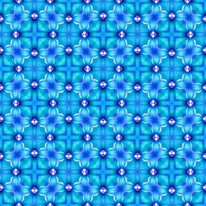 Brilliant Blue Cross Pattern