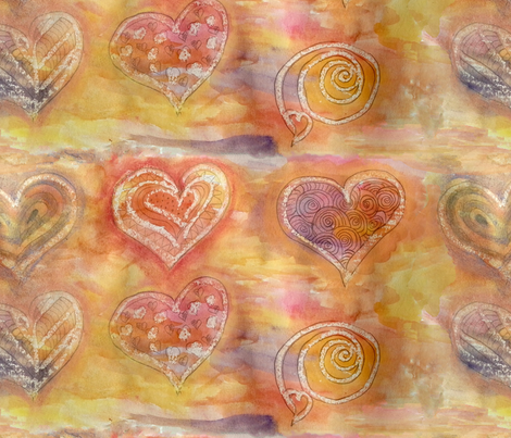 hearts fabric by belana on Spoonflower - custom fabric