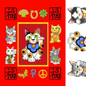 Lucky Cat Mat and Catnip Toys