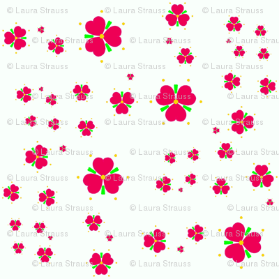 Red Hearts and Flowers