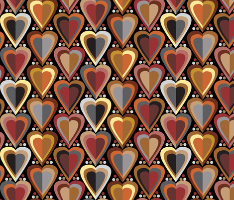 Hearts fabric by rachelmacdonald on Spoonflower - custom fabric
