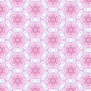 Cotton Candy Pink and Blue in Hexagon Pattern
