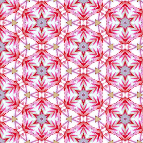 Red and Silver Star Pattern