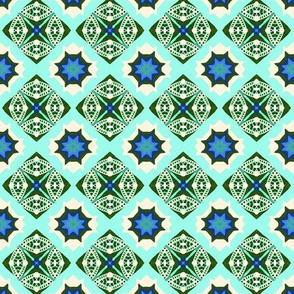 Invulnerability blue and Ivory texture multi wheel  & star