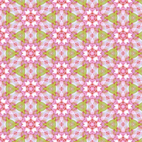 Pink and Green Floral Design