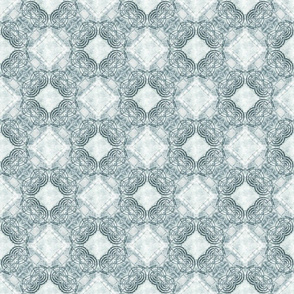 Egyptian Style Pattern in Gray Green