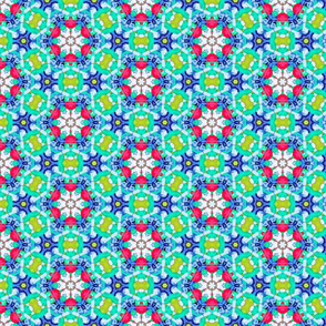 Festive Blue Red and Green Christmas Pattern