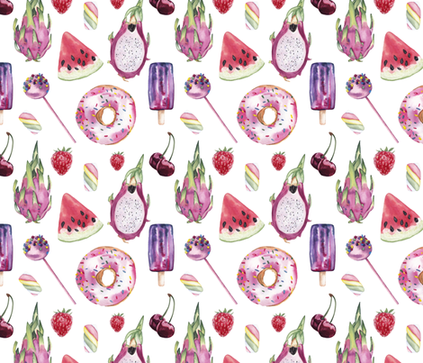 Oooh sweet love fabric by liudmilakopecka on Spoonflower - custom fabric