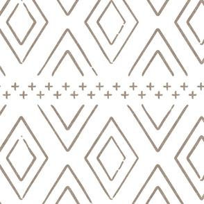 Safari Wholecloth Diamonds in brown  - farmhouse diamonds - mud cloth fabric