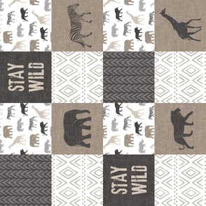 Stay Wild - Safari Wholecloth - Neutrals (90)