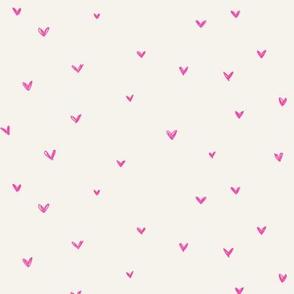 Hot pink hearts on bone-01
