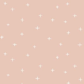 Sketched x swiss crosses // Bone on ballet pink