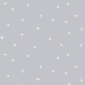 Sketched x swiss crosses // Bone on silver grey