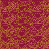 Connected Hearts Maroon