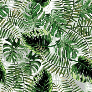 "24"" Bohemian  Hand Drawn Tropical Jungle Garden"