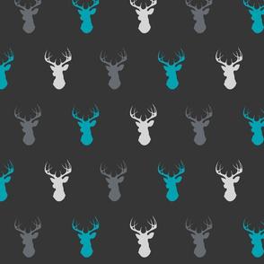 Deer - teal ironwood