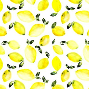 Watercolor lemons, larger scale