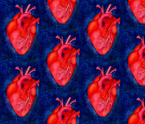 Space Heart stars 6x9 fabric by resistanthearts on Spoonflower - custom fabric