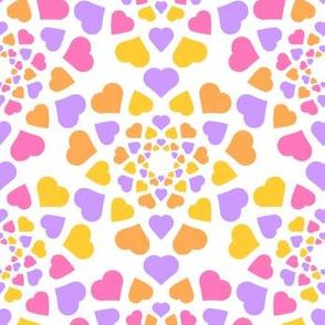 08346866 : mandala 9 hearts : sherbet
