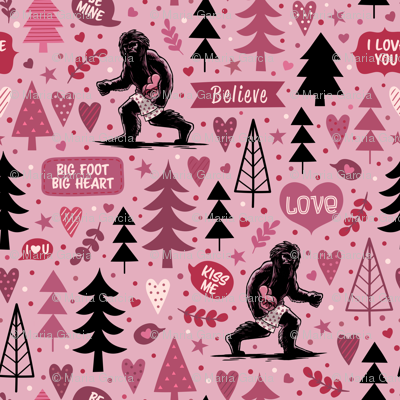 Valentine Bigfoot Big Heart