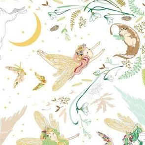 Enchanted Fairies (white) rotated