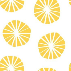 Mod Scandinavian Dandelions in Yellow + White