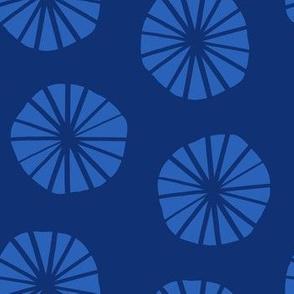 Mod Scandinavian Dandelions in Blue + Navy