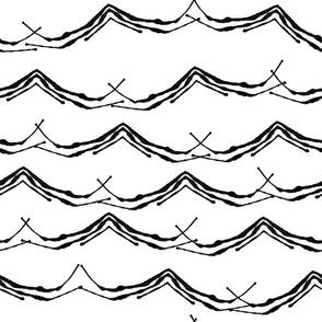 ink-waves black white