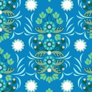 Pinwheels Cerulean