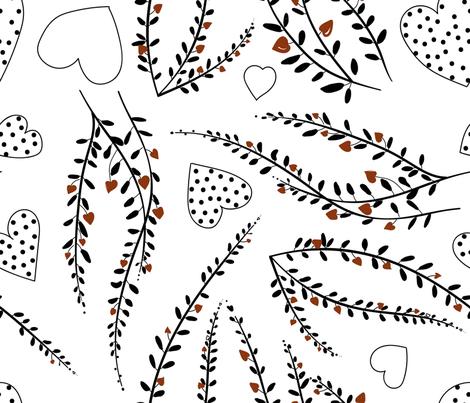 Valentain Flowers fabric by li_moon on Spoonflower - custom fabric