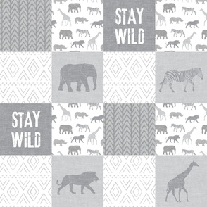 Stay Wild - Safari Wholecloth - Grey