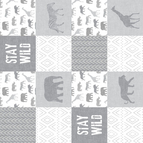 Stay Wild - Safari Wholecloth - Grey (90)