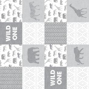 Wild One- Safari Wholecloth -  Grey (90)