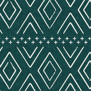 farmhouse diamonds - dark green