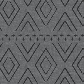 farmhouse diamonds - grey on grey
